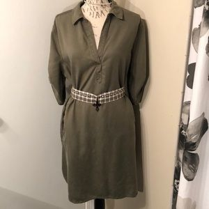 Army Green Adorable Shirt Dress